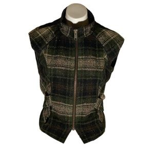 CAbi #611 All Tied Up Plaid Vest